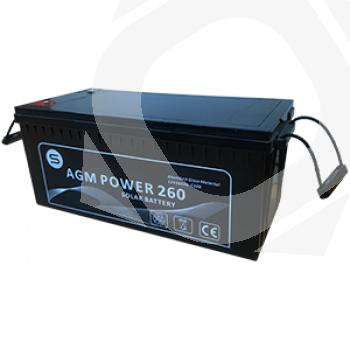 Batería AGM POWER sin mantenimiento 190Ah en C100 para instalaciones aisladas