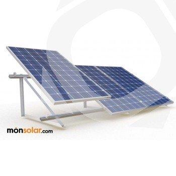 Estructura para placas solares de 12v verticales en suelo