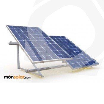 Estructura suelo plano para 2 paneles solares de 24v 72 celulas en vertical