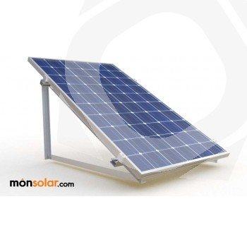 Estructura superficie plana 1 panel solar de 60 celulas 250w vertical