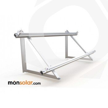 Estructura superficie horizontal panel solar con railes, monsolar.com