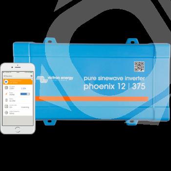 Monitorización del Inversor Victron Phoenix VE.Direct 12v 375va frontal