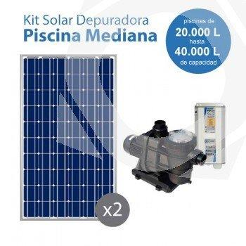 Kit solar con bomba para la depuración de piscinas medianas (entre 20 y 40 m3)