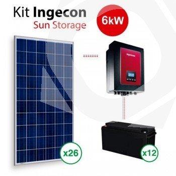 Kit Solar Autoconsumo Baterias Ingecon Sun Storage 1Play 6Kw