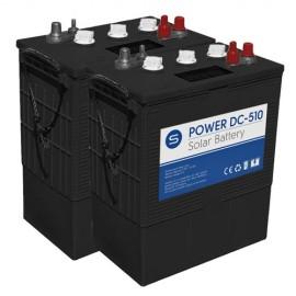 Batería solar 12v y 510Ah de ciclo profundo power DC