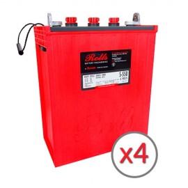 Batería de ciclo profundo ROLLS a 24 voltios