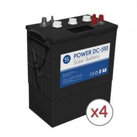 Batería solar 24v y 510Ah de ciclo profundo power DC