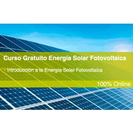 Curso gratuito energia solar fotovoltaica. Nivel Básico