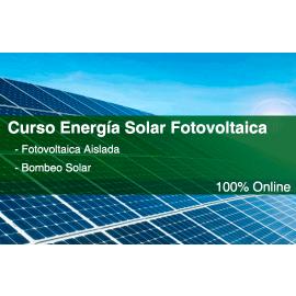Curso online energía solar fotovoltaica - Instalaciones aisladas y bombeo solar