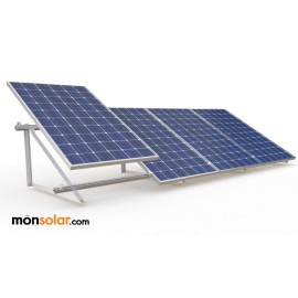 Estructura para 4 paneles solares de 60 celulas suelo plano
