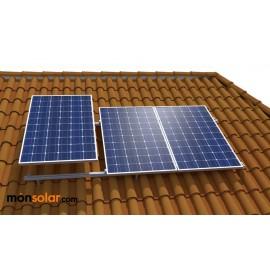 Estructura para paneles solares de 12v tejado inclinado