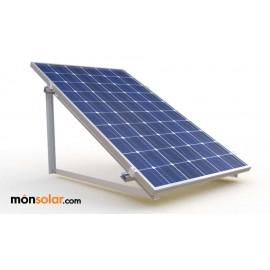 Estructura para terraza plana 1 panel solar de 12 voltios en vertical