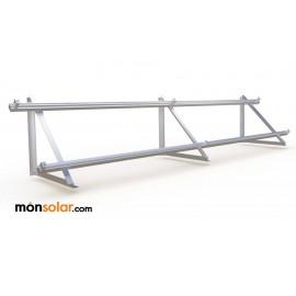 Estrucutra aluminio con railes para dos placas solares superficie horizontal