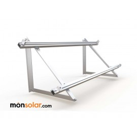 Estructura superficie horizontal panel solar con railes, monsolar.com
