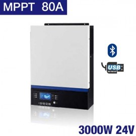 Inversor Huber Connect de 3000W y 24V con MPPT de 80A
