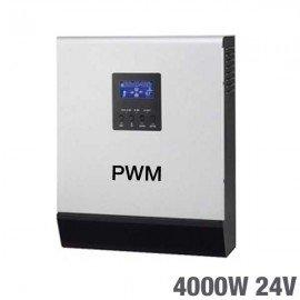 Inversor Cargador Regulador 3 en 1 Huber 24V 4000W con regulador pwm de 50A