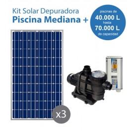 Kit solar bomba PS600 para piscinas medianas de entre 40 y 70m3