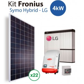 Kit Solar con Bateria litio LG resu 10H y fronius Hybrid 4kw