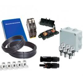 Kit material electrico REBT para instalaciones solares medios con baterias estacionarias