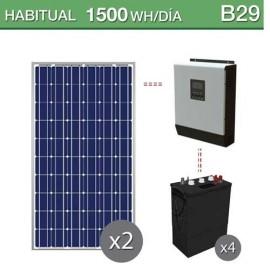 Kit solar para casetas aisladas con baterías de ciclo profundo
