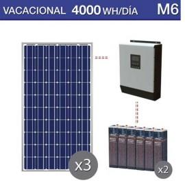 Kit solar para uso en verano y consumo de 4000Wh al día