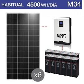 Kit placas solares M34 consumo de 4500Wh/día durante todo el año
