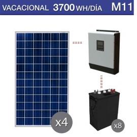 kit solar para utilización en verano de 3700Wh al dia y baterías de ciclo profundo