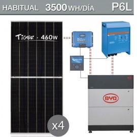 kit solar con batería de litio para consumo de 5500Wh/dia - P6L