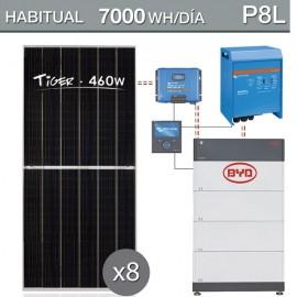 Kit solar con batería de litio para consumo de 7000wh/dia - P8L