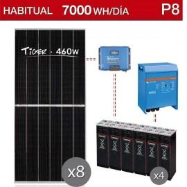 Kit solar vivienda habitual para consumo de 7000wh/dia - P8