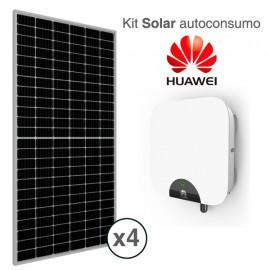Kit solar autoconsumo con inversor híbrido HUAWEI de 2kW con 1.5kWp