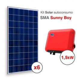 Kit solar autoconsumo directo SMA Sunny Boy de 2400kWh/año
