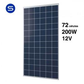 Panel solar 12v 200w con 72 células solares
