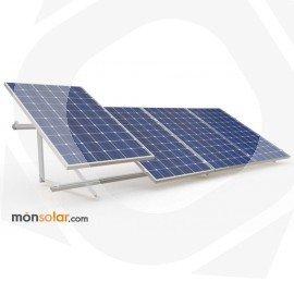 Estructura superficie plana para 4 paneles de 150wp 36 células