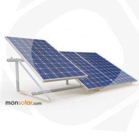 Estructura suelo plano para 3 paneles solares 72 celulas 24 voltios