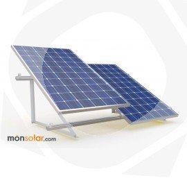 Estructura para placas solares de 12v en posicion vertical