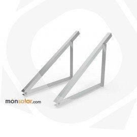 Estructura superficie plana triangulos de aluminio para panel solar de 24 voltios horizontal