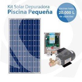 Kit de bombeo solar para la depuración de piscinas pequeñas