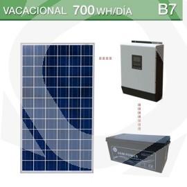kit solar de 1000 vatios para un consumo veraniego de 700wh/día