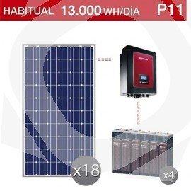Kit solar con inversor centralizado para grandes consumos en viviendas habituales
