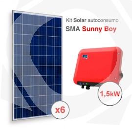 Kit solar autoconsumo directo SMA Sunny Boy de 2000kWh/año