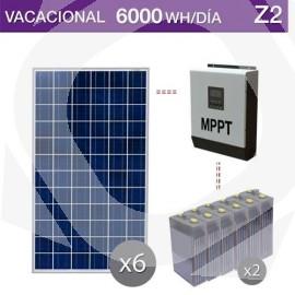 kit solar de placas solares barato con baterías estacionarias y consumo vacacional - Z2