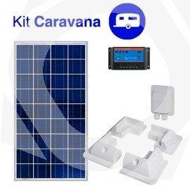 kit solar caravana con soporte placa solar
