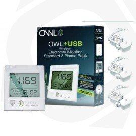 Monitor de consumo energético OWL trifasico