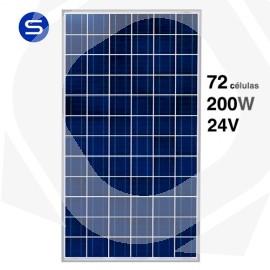 Panel solar 24V y 200W monocristalino SCL