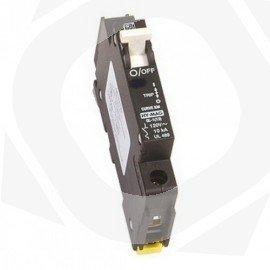 Seccionador DIN de corriente continua para cortar la corriente en el tramo paneles-regulador