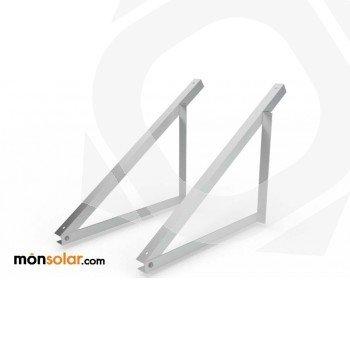 Estructura para suelo plano formada por triángulos de aluminio para panel solar de 60 células