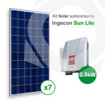 Kit solar autoconsumo directo Sun Lite de 2000kWh/año