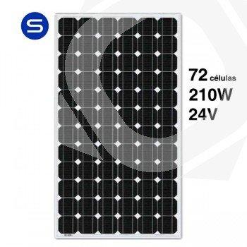Panel solar 24V y 210W monocristalino SCL