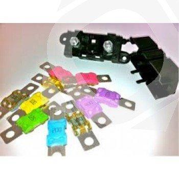 Portafusibles MegaFuse Incluye 2 Fusibles Megafuse 125-250A / 58V